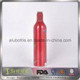 Bottiglia di alluminio della bevanda della birra stampata modo con la protezione di parte superiore