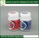 Бутылка конфеты цилиндра оптового HDPE 60ml пластичная