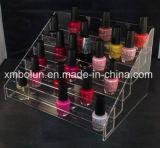 Étalage acrylique à la mode de vernis à ongles contre- pour la promotion