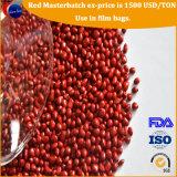 Красный цвет Masterbatch пигмента впрыски 40% PP красный