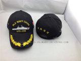 Gorra de béisbol al aire libre de encargo del negro de la marina del ejército del guardacostas