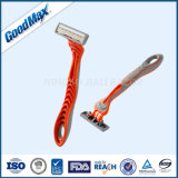 Dreifaches Schaufel-Rasiermesser, das Schaufel-Rasierapparat-Wegwerfrasierrasiermesser rasiert