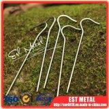 Spina di tenda di titanio dell'amo della curvatura della lega Dia5.0 per il campeggio esterno