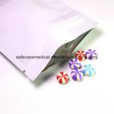 Мешка микстуры верхней части застежки -молнии цвета алюминиевой фольги мешок Mylar белого раговорного жанра Ziplock
