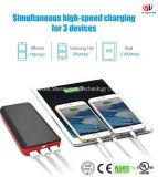 выхода USB батареи 3 ультра большой емкости крена силы 22400mAh блок батарей внешнего внешний с заряжателем электрофонаря СИД портативным для iPhone, iPad, Samsung, Nexu