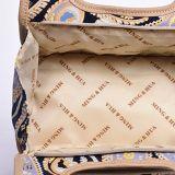 Sacchetto portatile della maniglia di memoria di modo il mini sacchetto di trucco di 2 strati può essere usato come casella di pranzo