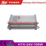 bloc d'alimentation antipluie de l'interpréteur de commandes interactif en aluminium continuel DEL de la tension 24V-100W