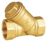Válvula de verificação de bronze com filtro