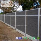 Im Freien preiswerter zusammengesetzter hölzerner Zaun des Garten-Aluminium-WPC mit Gatter