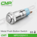 Interruptor de pulsador impermeable de la lámpara del PUNTO del CMP 10m m