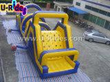 curso de obstáculo inflável longo de 13m, obstáculo inflável