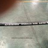 Le fil d'acier a tressé le boyau hydraulique couvert par caoutchouc renforcé (SAE100 R2-1/4)