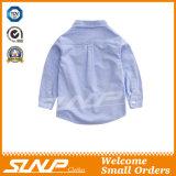 Roupa longa da camisa da farda da escola da luva do menino com algodão 100%