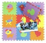 Stuoia di puzzle del bambino del reticolo di disegno del fumetto che gioca la stuoia materiale Interlockin di puzzle di EVA della gomma piuma molle