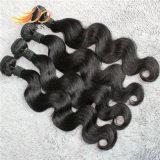 O cabelo humano do Virgin peruano da alta qualidade da onda 8A do corpo tece