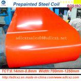 bobine en acier galvanisée enduite d'une première couche de peinture en acier de toit de 0.16mm-1.2mm/PPGI en acier