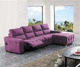 O sofá da sala de visitas com o sofá moderno do couro genuíno ajustou-se (415)
