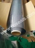 Tampa de tabela flexível desobstruída do PVC no rolo