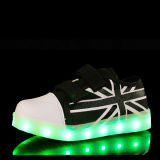 Chaussures Mode unisexe LED Blanc Sport Glow Sneakers Chaussures de course LED