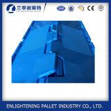 Blaue feste Plastikstapel-Nest-Einzelverkauftote-Sortierfächer