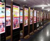 プレーヤーを広告する表記人間の特徴をもつキオスクのデジタル表示装置を立てる32インチの床