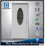 3/4 puerta de cristal de acero galvanizada exterior pintada Lite oval de Prehung