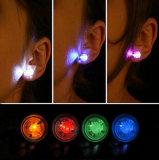 Éclairage LED de forme circulaire vers le haut des boucles d'oreille pour l'usager