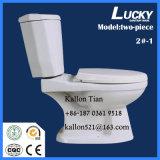 2#-1 het afzonderlijke/Tweedelige Washdown Ceramische Toilet van de Badkamers in Sanitaire Waren