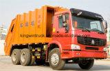 Carro de basura del compresor de la marca de fábrica de Sinotruk o carro de la succión
