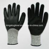 двойник нитрила сопротивления отрезока вкладыша 13G Hppe окунул перчатку (5049)