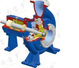 125/150-400 pompe de réduction en pulpe de papier pour la ligne de machine de fabrication de papier