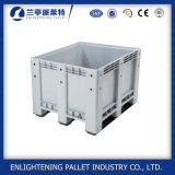 Boîte à palette en plastique de empilement solide de mémoire lourde de HDPE pour 1200*1000mm