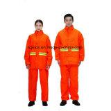 Raincoat reflexivo da segurança da laranja 3m