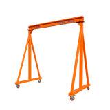 Universal Wheels Save Labor Save CostのBrakeの3000kg Capacity Manual Gantry Crane