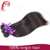 Extensión recta brasileña sin procesar del pelo humano de la Virgen de Remy del color natural