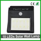 Хороший свет сада датчика света PIR стены качества 10LEDs напольный солнечный СИД