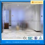 o ácido do painel do vidro geado de 4mm 5mm 6mm gravou o fabricante do vidro Tempered do ouro da tela de seda
