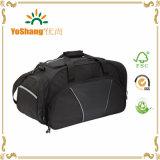 Grandi sacchi di Duffle neri portatili su ordinazione di ginnastica del sacco di corsa del sacco di sport