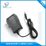cargador de la pared de la CA del adaptador de la potencia de 5.5*2.1m m y de 5.5*2.5m m 12V 1.5A con Ce y la FCC
