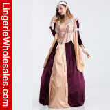 Koningin van het Kostuum van de Partij van Halloween van luxeVrouwen Lace-up van het Kostuum van Egypte Cosplay
