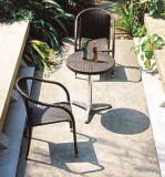 Los bistros fijaron el vector y la silla al aire libre de la rota de los muebles del jardín