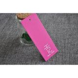 Oscilación de cartón de color rosa etiquetas colgantes para el regalo de la ropa / de promoción de la mujer