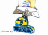 Sport in lega di zinco personalizzato che esegue la medaglia molle dello smalto