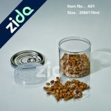 O plástico Shaped quadrado do animal de estimação 170ml pode lata aberta fácil plástica