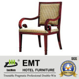 Chaise de réception de mobilier d'hôtel en bois (EMT-HC18)