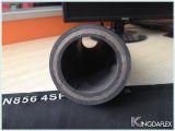 Da espiral de alta pressão do fio 4sp do En 856 do RUÍDO mangueira hidráulica