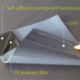 Fieltro impermeable auto-adhesivo /Underlayment del material para techos de la membrana de la película de PE/HDPE/EVA