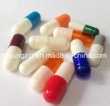 Diverses couleurs séparées de capsule vide