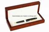 Casella di legno della penna di rivestimento del Brown Matt