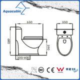 Het Ééndelige Dubbele Gelijke Ceramische Witte Toilet van Siphonic (ACT8823)
